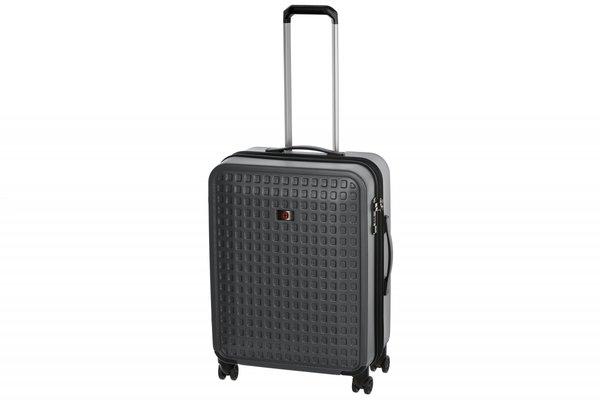 Купить Дорожные сумки и чемоданы, Чемодан пластиковый Wenger Matrix 24 , средний, 4 колеса, серый (604357)