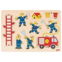 Пазл-вкладыш вертикальный goki Пожарная команда (57471G)