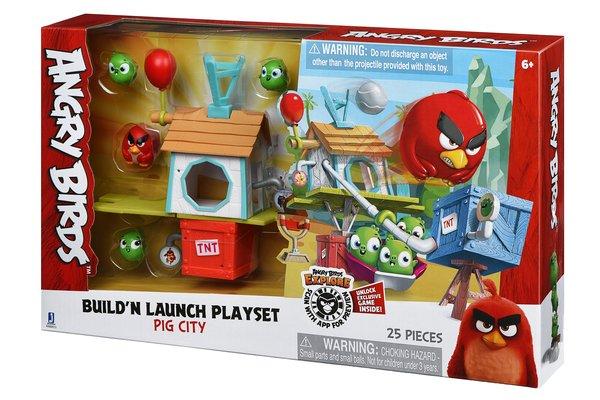 angry birds Игровая фигурка Jazwares Angry Birds ANB Medium Playset (Pig City Build n Launch Playset) (ANB0015)