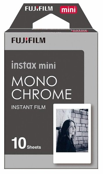 Купить Аксессуары для моментального фото, Фотобумага Fujifilm INSTAX MINI MONOCHROME (54х86мм 10шт)