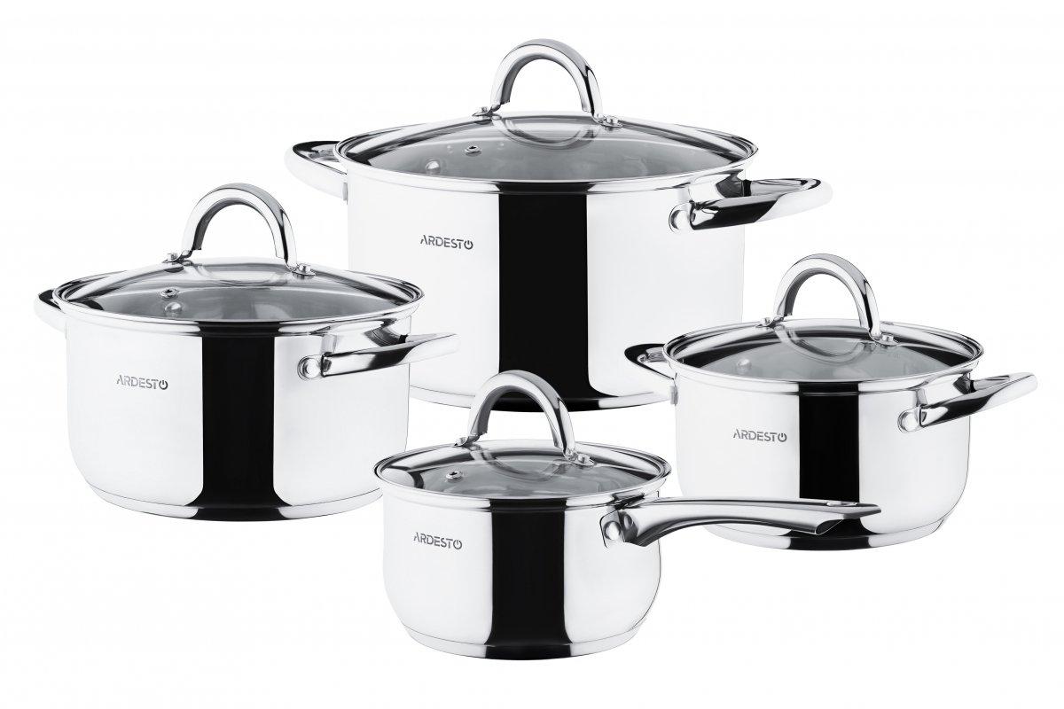 Набор посуды Ardesto Gemini Gourmet 8 предметов (AR1908PS) фото