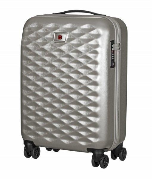 Купить Дорожные сумки и чемоданы, Чемодан пластиковый Wenger Lumen 20 малый, серебряный (606497)