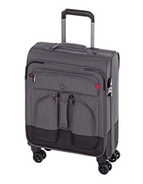 Купить Дорожные сумки и чемоданы, Чемодан текстильный Wenger Deputy 20 малый, серо-чёрный (604367)