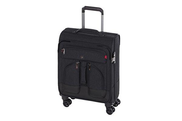 Купить Дорожные сумки и чемоданы, Чемодан текстильный Wenger Deputy 20 малый, чёрный (604369)