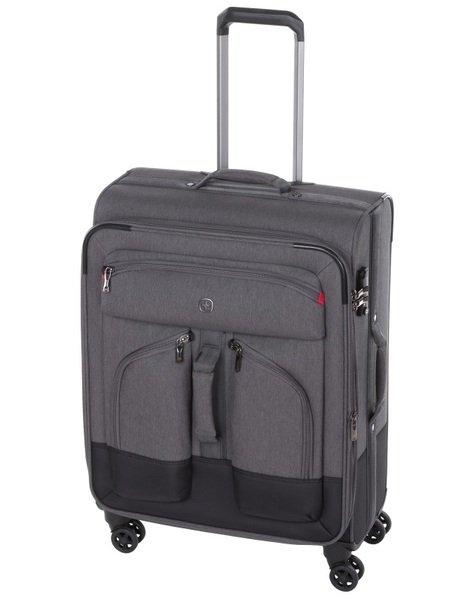 Купить Дорожные сумки и чемоданы, Чемодан текстильный Wenger Deputy 24 средний, серо-чёрный (604370)