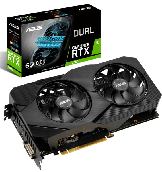 Видеокарта ASUS GeForce RTX2060 6GB GDDR6 DUAL EVO (DUAL-RTX2060-6G-EVO)