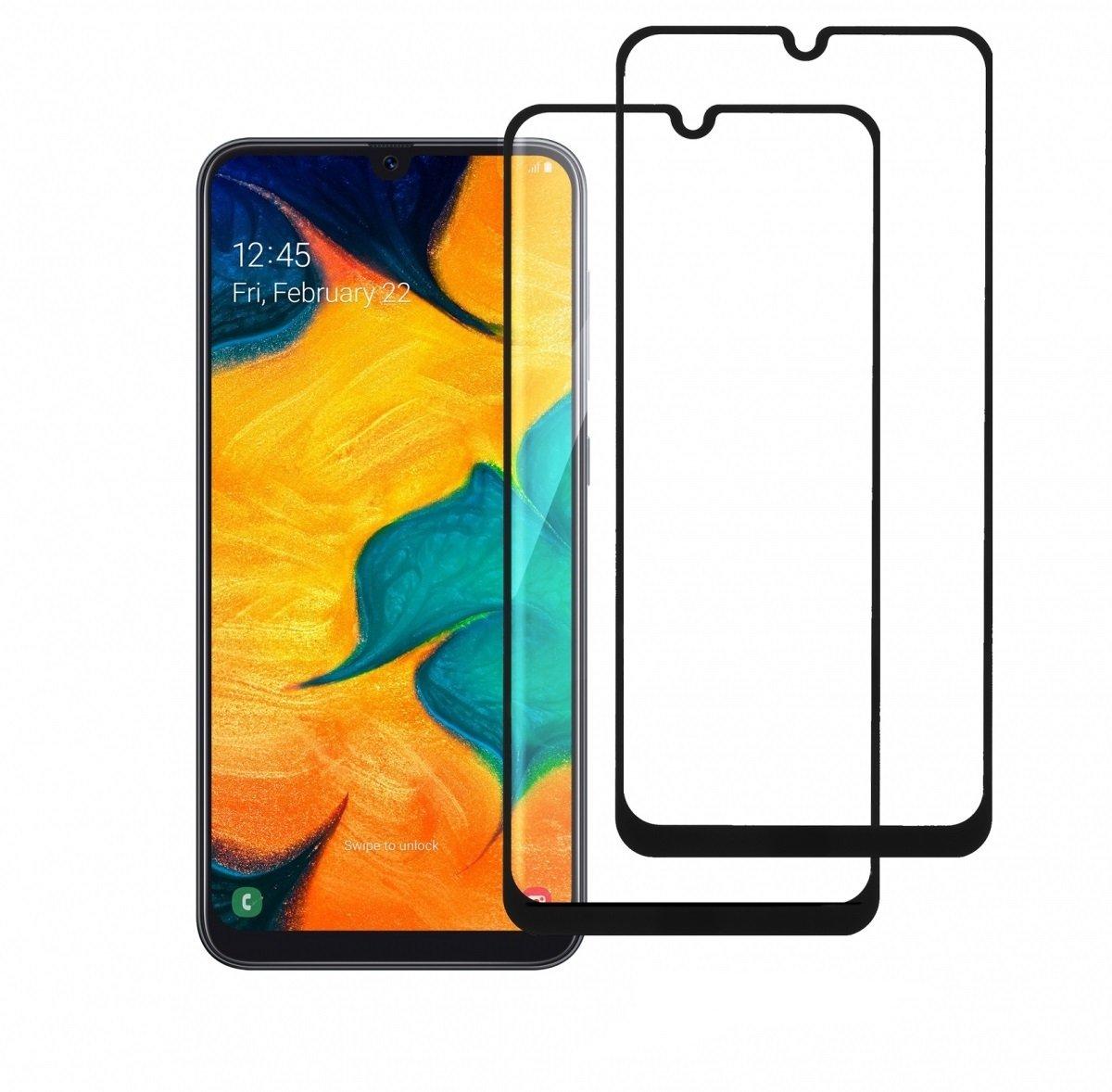 Комплект защитных стёкол 2E для Galaxy A30 (A305)/A50 (A505) 2.5D Black Border фото 1