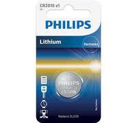 Батарейка Philips Lithium CR 2016 BLI 1 (CR2016/01B)