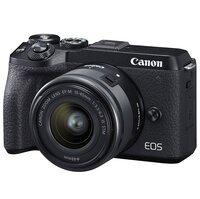 Фотоаппарат CANON EOS M6 II 15-45 IS STM Black + видоискатель EVF-DC2 (3611C053)