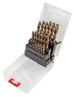 Сверло по металлу Verto HSS-G, 1.0 - 13.0 мм, набор 25 шт.