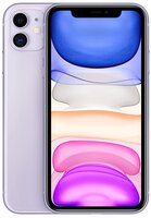 Смартфон Apple iPhone 11 64GB Purple (slim box) (MHDF3)