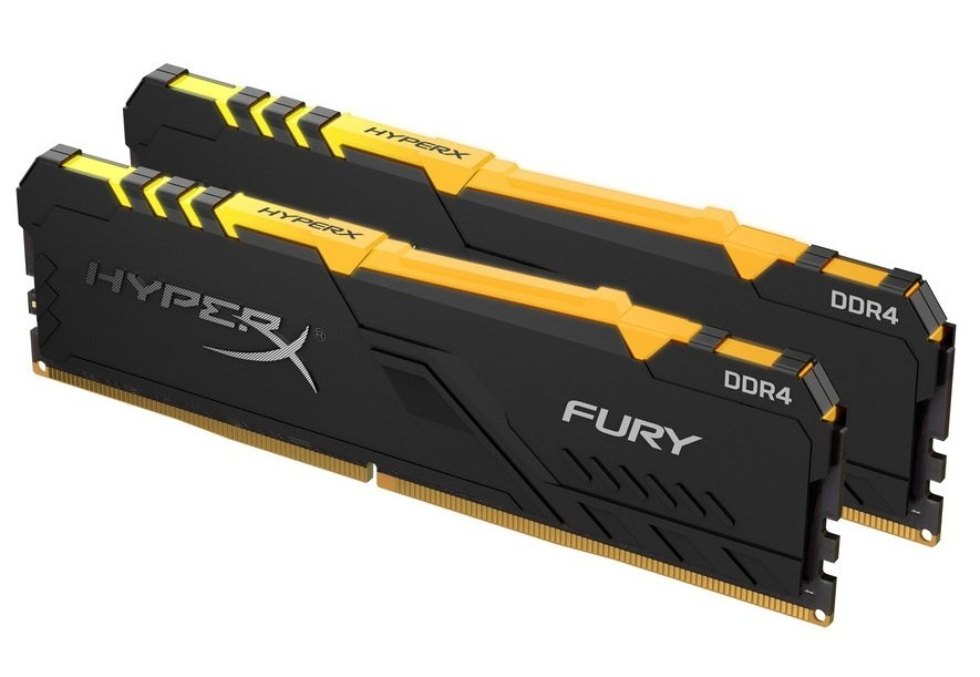 Память для ПК HyperX DDR4 2666 32GB Fury RGB Black (HX426C16FB3AK2/32) фото 1