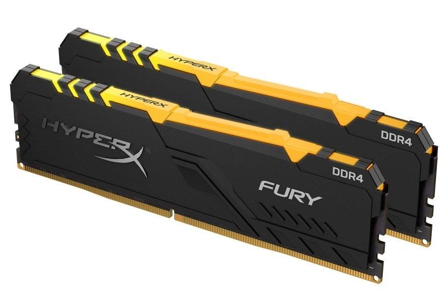 Память для ПК HyperX DDR4 3200 32GB Fury RGB Black (HX432C16FB3AK2/32) фото 1