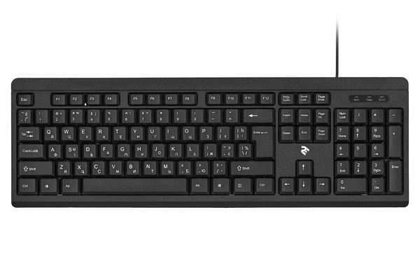 Купить Клавиатуры, Клавиатура 2E KS108 USB Black (2E-KS108UB)