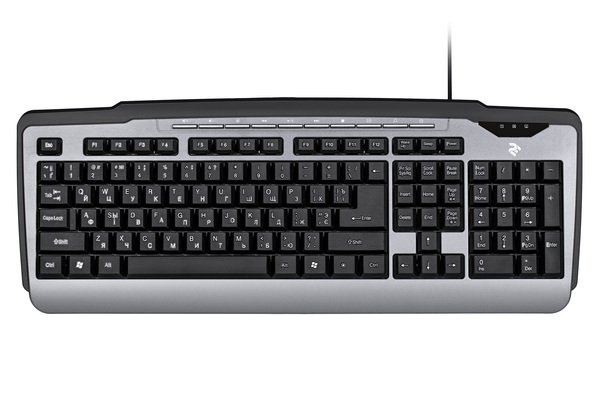 Купить Клавиатуры, Клавиатура 2E KM1010 USB Gray (2E-KM1010UB)