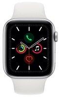 Смарт-часы Apple Watch Series 5 GPS 44mm Silver Aluminium Case with White Sport Band S/M & M/L