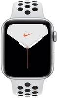 Смарт-часы Apple Watch Nike Series 5 GPS 44mm Silver Aluminium Case with Pure Platinum/Black Nike Sport Band S/M & M/L