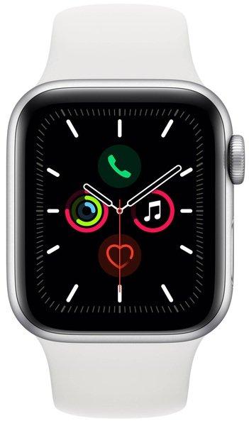Купить Smart Watch (Умные часы), Смарт-часы Apple Watch Series 5 GPS 40mm Silver Aluminium Case with White Sport Band