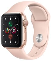 Смарт-часы Apple Watch Series 5 GPS 40mm Gold Aluminium Case with Pink Sand Sport Band