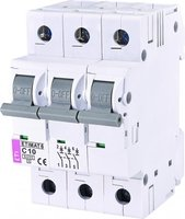 Авт. выключатель ETI ETIMAT 6 3p C 10А (6 kA)