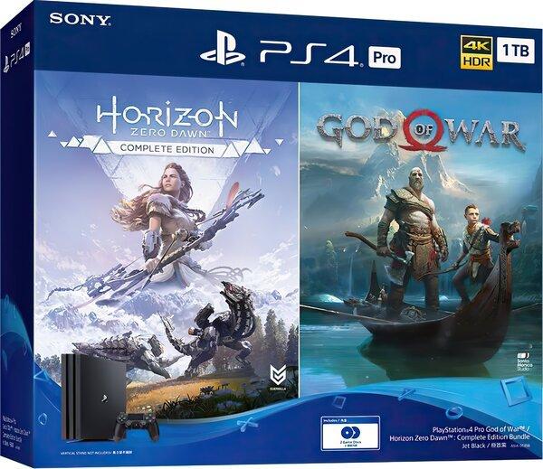 Купить Игровые приставки, Игровая приставка SONY PlayStation 4 Pro 1Tb Black (God of War + Horizon Zero Dawn CE) (9994602)