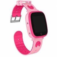 Дитячий годинник-телефон з GPS трекером GOGPS ME K14 рожевий (K14PK)