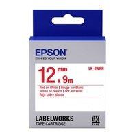 Картридж с лентой Epson LK4WRN принтеров LW-300/400/400VP/700 Std Red/Wht 12mm/9m (C53S654011)