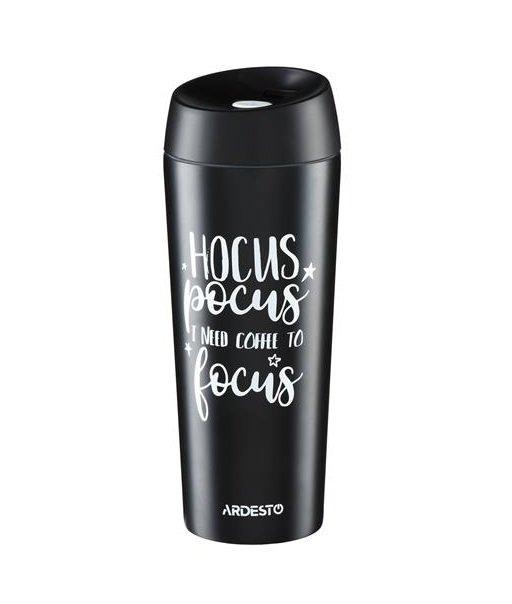Термочашка Ardesto Coffee time Hocus 450 мл черная (AR2645DMB) фото 1