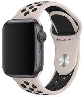 Ремешок Apple Watch 40mm Desert Sand/Black Nike Sport Band S/M & M/L (MWU82ZM/A)