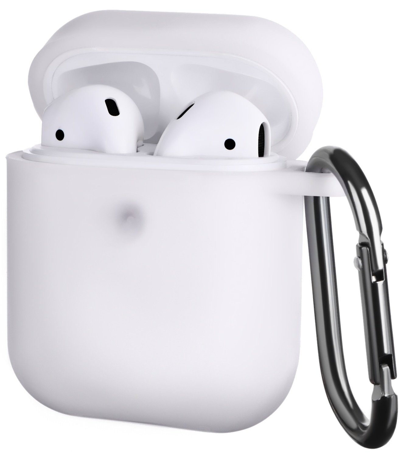 Чехол 2Е для Apple AirPods Pure Color Silicone (3mm) White фото 1