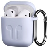 Чехол 2Е для Apple AirPods Pure Color Silicone (1.5mm) Imprint Lavender