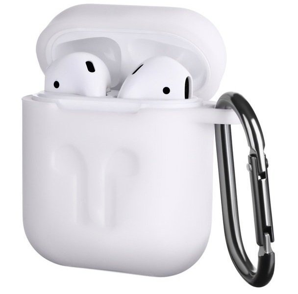 Чехол 2Е для Apple AirPods Pure Color Silicone (3mm) Imprint White фото 1