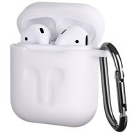 Чехол 2Е для Apple AirPods Pure Color Silicone (3mm) Imprint White
