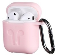 Чехол 2Е для Apple AirPods Pure Color Silicone (3mm) Imprint Light pink
