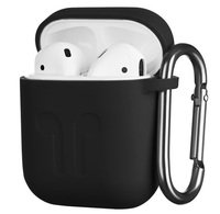 Чехол 2Е для Apple AirPods Pure Color Silicone (1.5mm) Imprint Black