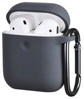 Чехол 2Е для Apple AirPods Pure Color Silicone (3mm) Carbon Gray