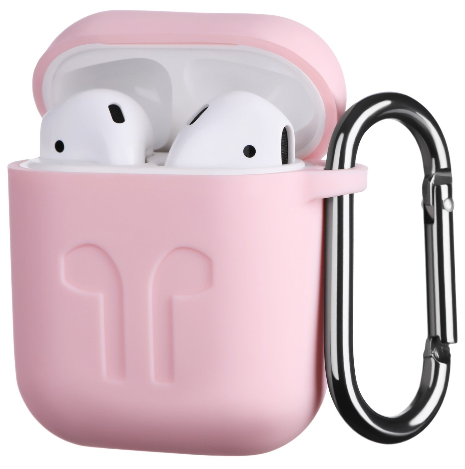 Чехол 2Е для Apple AirPods Pure Color Silicone (1.5mm) Imprint Light pink фото 1