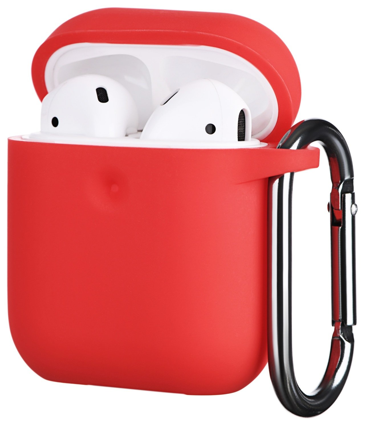 Чехол 2Е для Apple AirPods Pure Color Silicone (3mm) Red фото 1