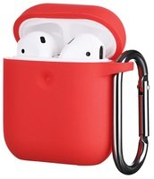 Чехол 2Е для Apple AirPods Pure Color Silicone (3mm) Red