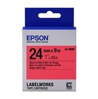Картридж с лентой EPSON LK6RBP принтеров LW-700 Pastel Blk/Red 24mm/9m (C53S656004)