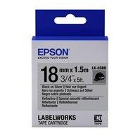 Картридж с лентой EPSON LK5SBR принтеров LW-400/400VP/700 Reflectiv Blk/Silv 18mm/1,5m (C53S655016)