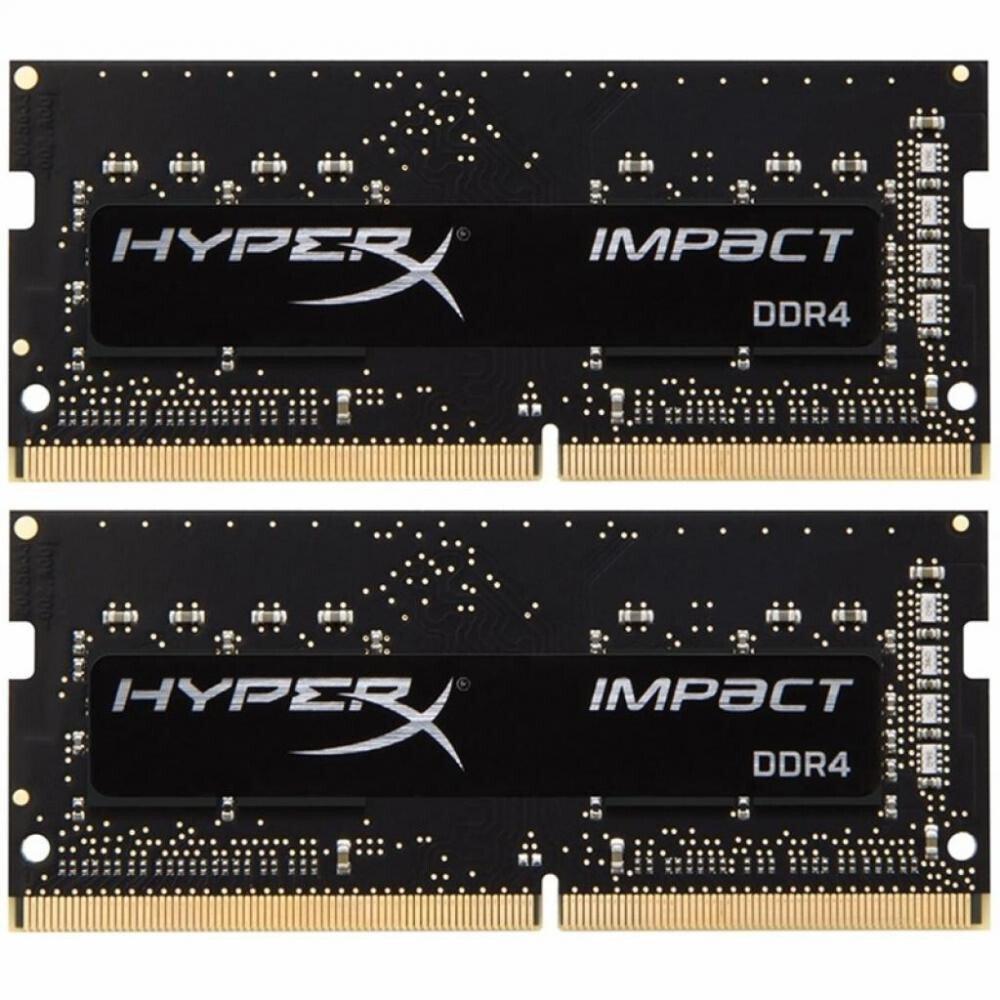 Пам'ять до ноутбука HyperX SO-DIMM DDR4 2666 16GB KIT Impact (HX426S15IB2K2/16) фото1