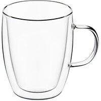 Набір чашок з ручками Ardesto з подвійними стінками для латте, 270 мл, 2 шт (AR2627G)