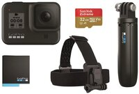 Экшн-камера GoPro HERO8 Black + Rechargeable Battery + Head Strap + QuickClip + Shorty + SD32GB (CHDRB-801)