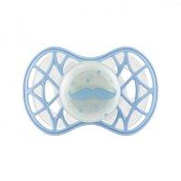 """<p>Пустушка ортодонтична Nuvita NV7084 Air55 Cool 6m +"""" вуса"""" світиться в темряві, блакитна (NV7084GDB)</p>"""
