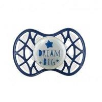 """Пустышка симметрическая Nuvita NV7085 Air55 Cool 6m+ """"DREAM BIG"""" светящаяся в темноте, темно-синяя (NV7085GBM)"""