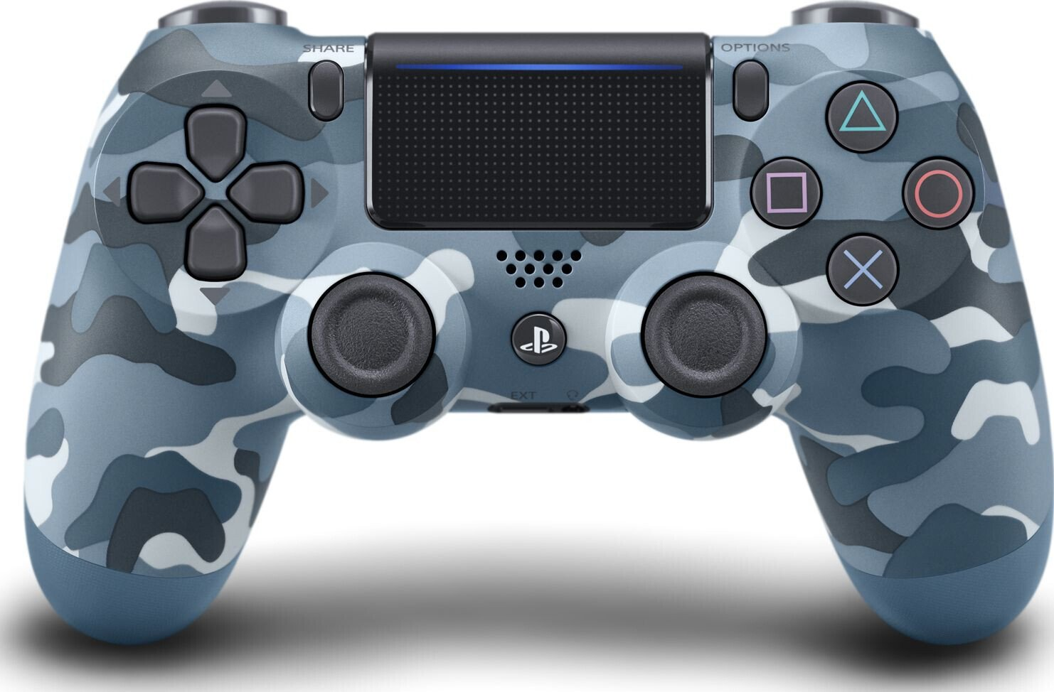 Беспроводной геймпад SONY Dualshock V2 Blue Camouflage для PS4 (9726111) фото 1