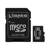 Карта памяти Kingston microSDHC 16GB Class 10 UHS-I R100MB/s + SD-адаптер