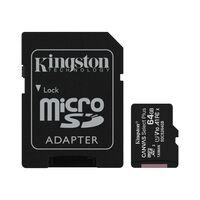 Карта памяти Kingston microSDXC 64GB Class 10 UHS-I R100MB/s + SD-адаптер