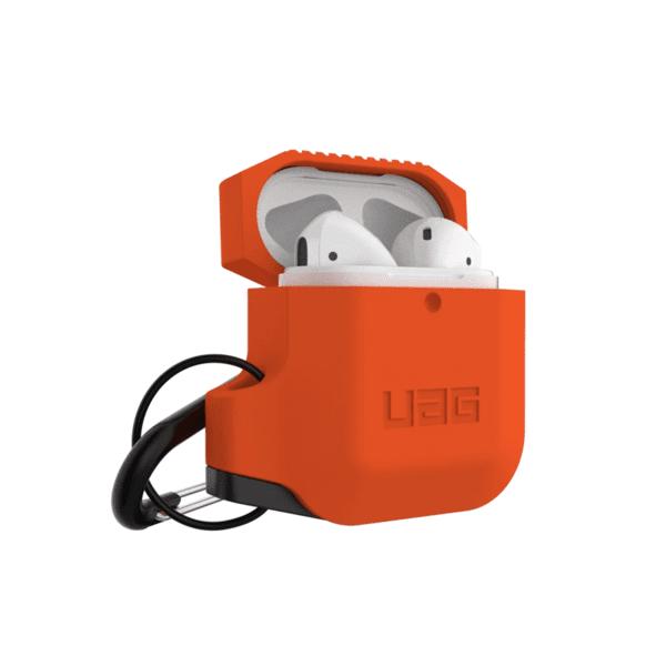 Купить Наушники, Чехол UAG для Apple AirPods Silicone Orange/Grey